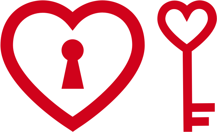 Heart Shaped Lock and Key